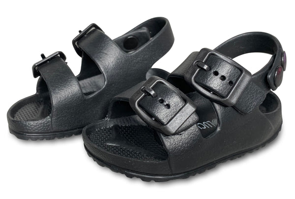 Black Toddler Water Shoes for Girls & Boys | Slip on Sandals, Washable