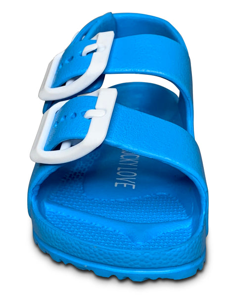 Blue Toddler Water Shoes for Girls & Boys | Slip on Sandals, Washable