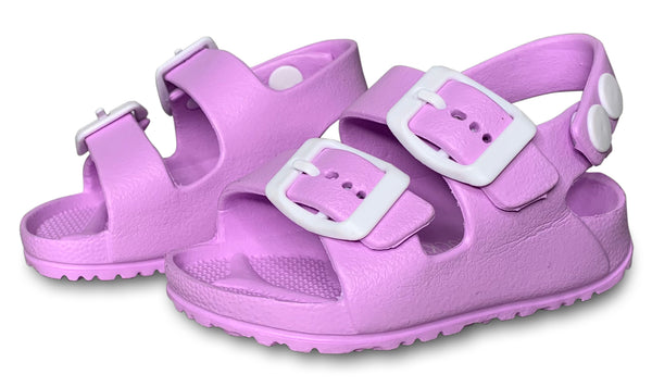Purple Toddler Water Shoes for Girls & Boys | Slip on Sandals, Washable