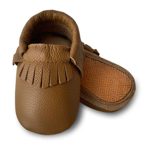 Ginger Hard Sole Fringe Moccasins