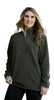 Olive Fleece Pullover Jacket for Women