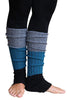 Black/Grey Striped Reversible Leg Warmers