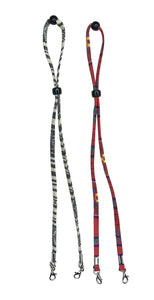 Multi-Color Red/Black & White Face Mask Lanyards for Kids and Adults - 2 Pack