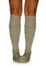 Grey + Black 2 Pack Marled Knee Length Boot Socks