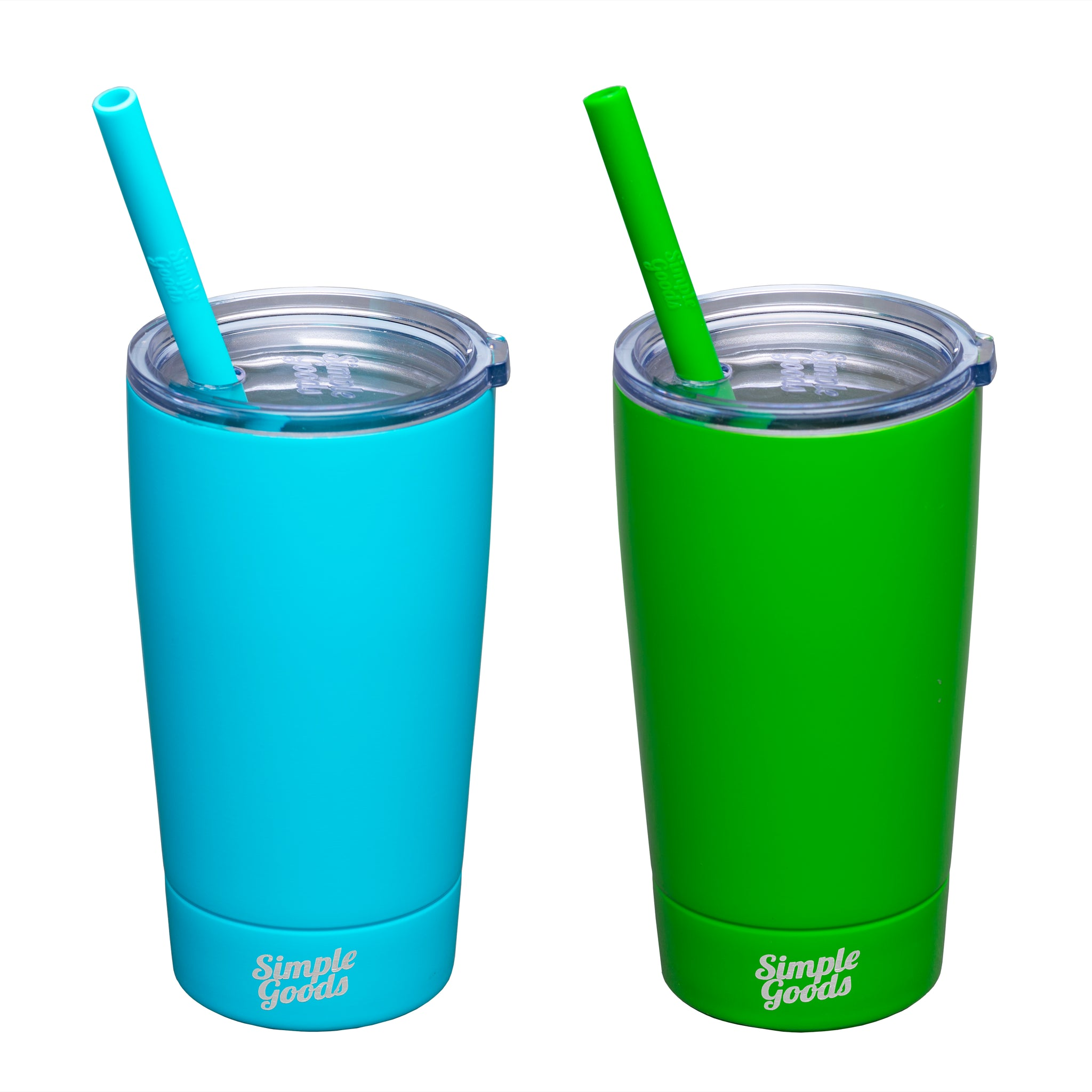 Green/Turquoise Kid Tumblers 2 Pack - Midi, 12 oz