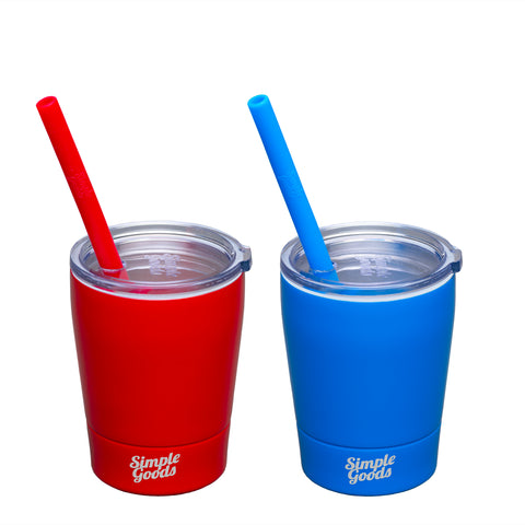 Red/Blue Kid Tumblers 2 Pack - Tiny, 8 oz