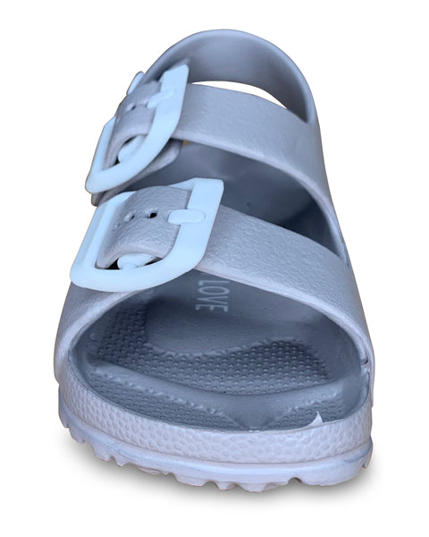 Grey Toddler Water Shoes for Girls & Boys | Slip on Sandals, Washable