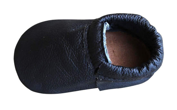 Black Soft Sole Prewalker Shoes