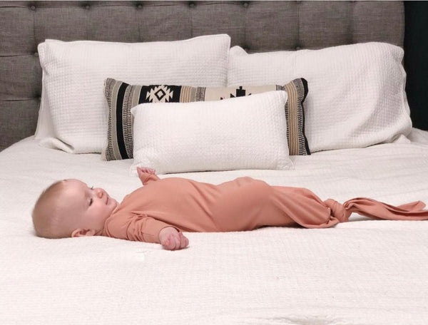 Ribbed Oatmeal Baby Gown
