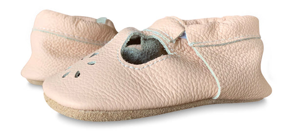 T-Strap Blush Soft Sole Prewalker Shoes