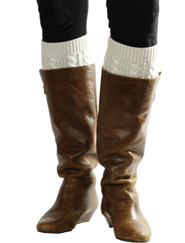 Black + Cream Marled Boot Cuffs