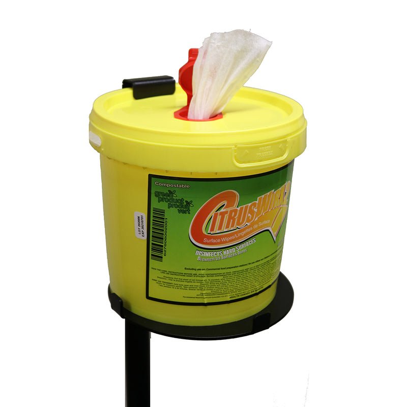 CitrusWirx Freestanding Dispenser for Bucket of Wipes