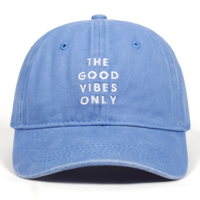Baseball Cap Unisex Fashion Hat - Good Vibes Only