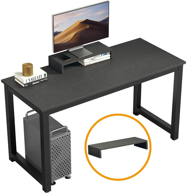 "Computer Desk PC Laptop Study Table 47"" Sturdy Office Desk Modern Simple Style Table for Home Office Workstation Notebook Writing Desk with Extra Monitor Stand"