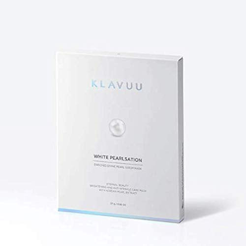 [KLAVUU] WHITE PEARLSATION Enriched Divine Pearl Serum Mask 5EA 27g