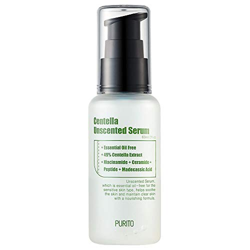 PURITO Centella Unscented Serum 60ml/ 2 fl.oz, serum for face, Centella Asiatica,Recovery facial SERUM,Calming soothing Serum