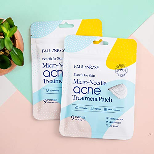 Paulinrise Micro-needle Acne Pimple Treatment Patch, Fast Healing Zit Stickers
