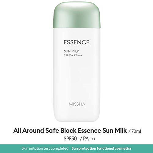 All Around Safe Block Essence Sun Milk SPF50+/PA+++ EX 70ml - more mild and powerful sun milk essence that hydrates without leaving oily residue