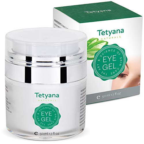 Tetyana naturals Eye Gel with Allantoin Hyaluronic acid for Puffiness Wrinkles Dark Circles