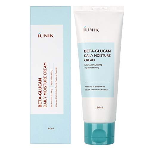 IUNIK Beta Glucan Daily Moisture Cream 2.02 Fl Oz - Skin Relief Intense Moisture Wrinkle Care Repair Cream Steroid & Fragrance-Free, All Natural Ingredients Centella Asiatica Extract and Vitamins