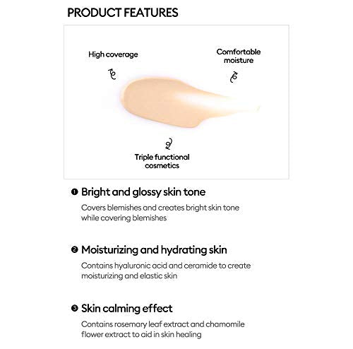 MISSHA M PERFECT COVER BB CREAM #27 SPF 42 PA+++ 50ml-Lightweight, Multi-Function, High Coverage Makeup to help infuse moisture for firmer-looking skin with reduction in appearance of fine lines