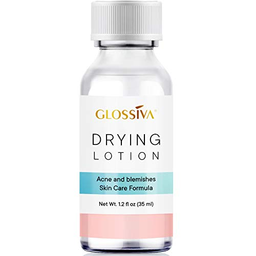 Glossiva Drying Lotion, Acne Spot Treatment Dries Out Pimples, Blemishes, Zits, and Clogged Pores