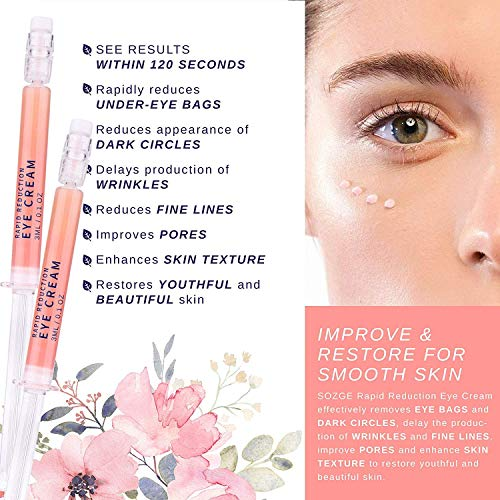 Rapid Reduction Eye Cream - Under-Eye Bags Treatment - Instant Results within 120 Seconds