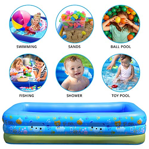 Soniultra Family Inflatable Swimming Pools, Ball Pit, Toy Pool, Fishing Pool - 87 x 56 x 24 in