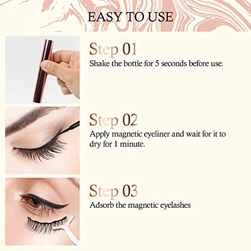 Aroamas Magnetic Eyeliner and Magnetic Eyelash Kit [7 Pairs]