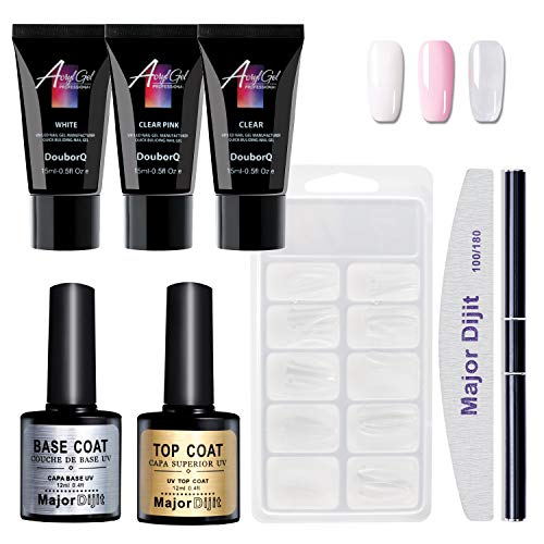 Aobbiy Poly Gel Nail Starter Kit, All-In-One Nail Extension Set