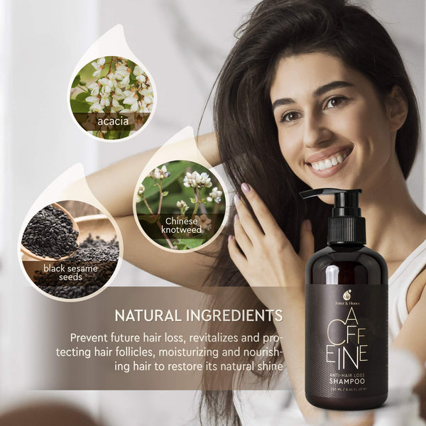 Caffeine Hair Loss Hair Growth Shampoo, with Natural and Healthy Ingredients