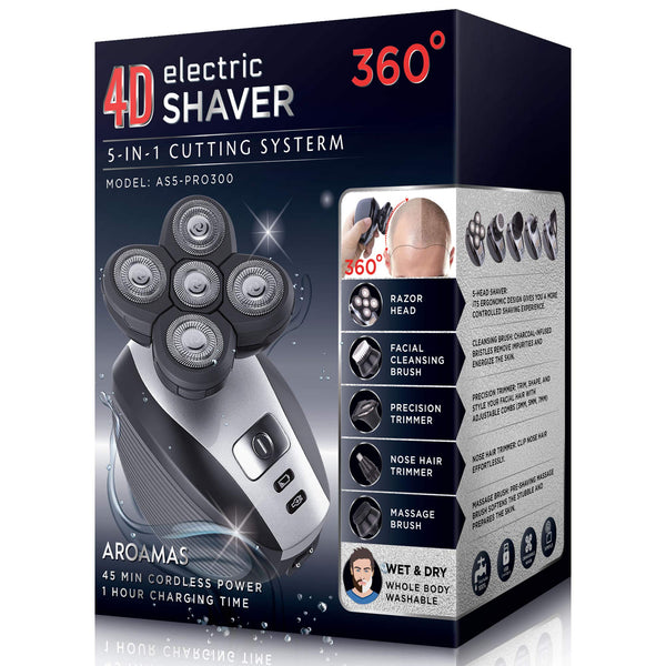 Men's 5-in-1 Electric Shaver & Grooming Kit: Five-Headed Beard, Hair Razor