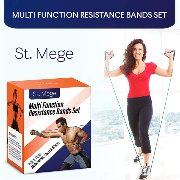 St. Mege 11 Pack Resistance Bands Set