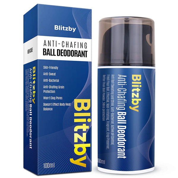 Blitzby Men's Ball Deodorant, Anti Ball Sweating and Stink, Anti-Chafing, Anti-Bacterial