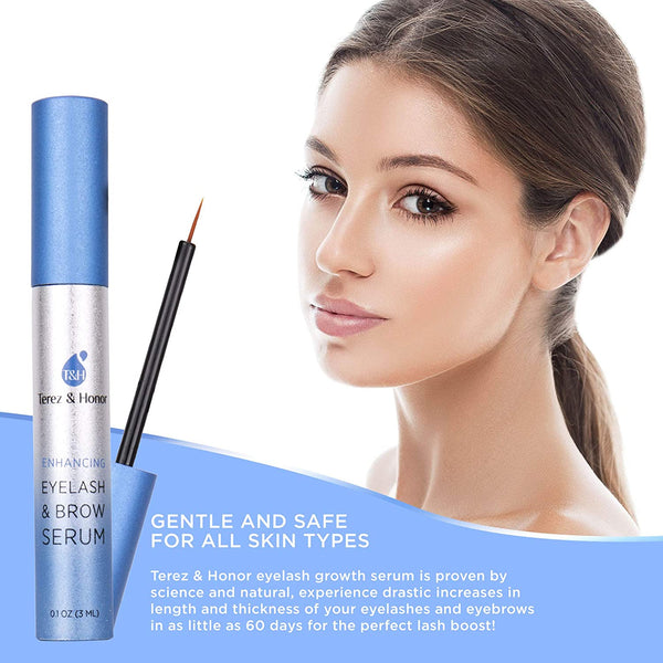 Natural Eyelash Growth Serum and Brow Enhancer to Grow Thicker, Longer Lashes