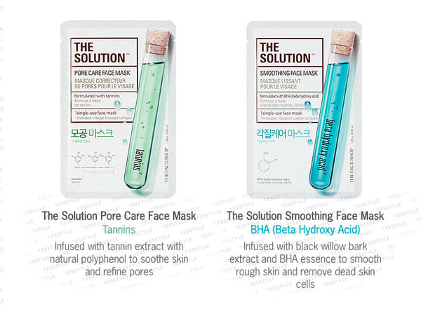 THE FACE SHOP - The Solution Mask Sheet 1pc (10 types)