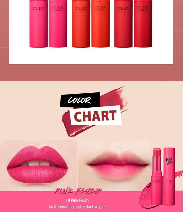 CLIO - Mad Matte Lip AD - 24 Colors