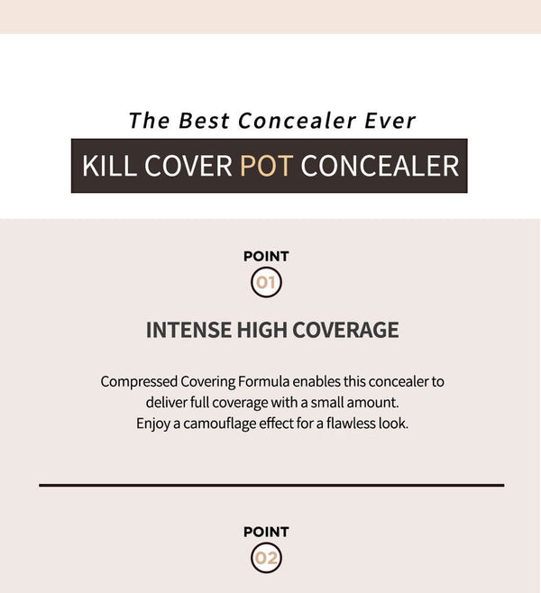 CLIO - Kill Cover Pot Concealer (4 Colors)