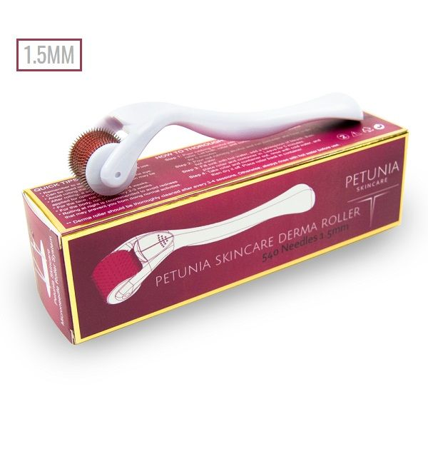 Petunia Skincare - 540 Needles Microneedle Derma Roller (0.25mm/0.5mm/1.0mm/1.5mm)