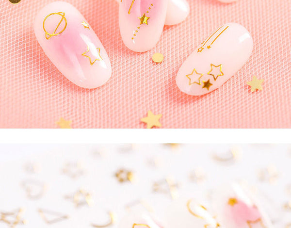 WGOMM - Iridescent 3D Nail Art Stickers