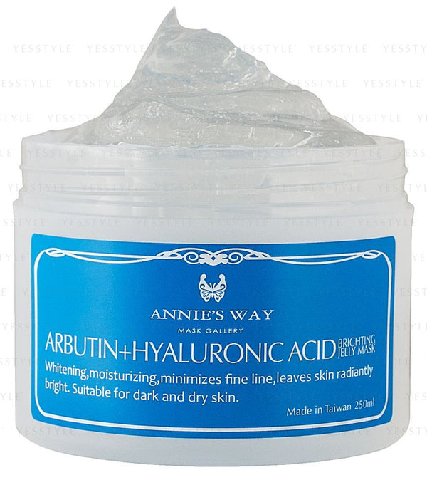 Annie's Way - Arbutin + Hyaluronic Acid Brighting Jelly Mask