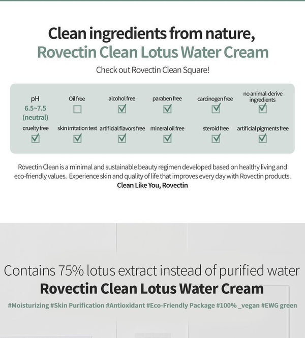 ROVECTIN - Clean Lotus Water Cream