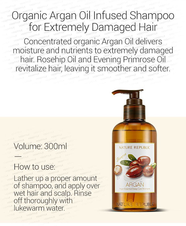 NATURE REPUBLIC - Argan Essential Deep Care Shampoo 300ml