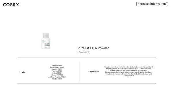 COSRX - Pure Fit Cica Powder