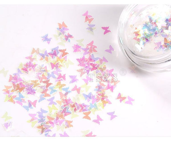 Monoe - Plastic Butterfly Nail Art Decoration