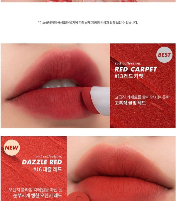 romand - Zero Matte Lipstick NEW - 20 Colors
