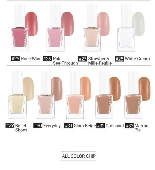 NATURE REPUBLIC - Color & Nature Nail Color 2018 (Normal) (33 Colors)
