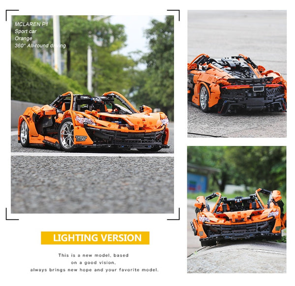 Motorized Technic Car Compatible With MOC-16915 McLaren P1 Motor Function Car Building Blocks Bricks Kids Christmas Toys