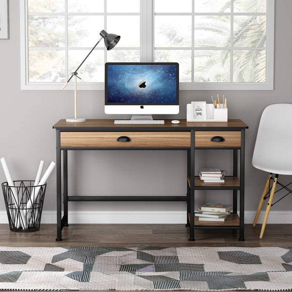 Tribesigns Rural Lift Desktop Computer Desk with Drawers, 47