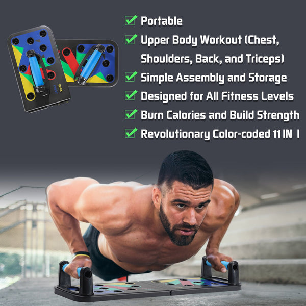 Push Ups Rack Board 14 way Comprehensive Fitness Exercise Workout Body Building Training Gym Push-up Stands Board
